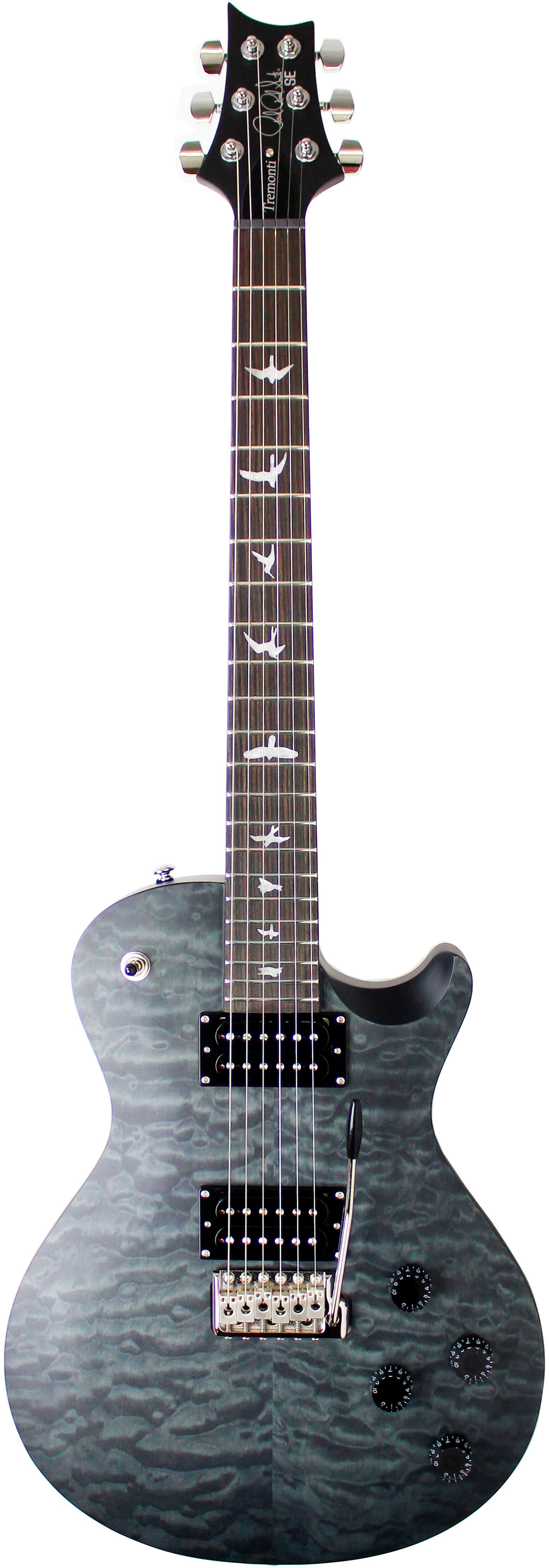 Prs guitars SE MARK TREMONTI SATIN QUILT STEALTH GREY BLACK